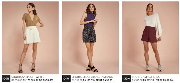 Shorts, bermudas, promoção, sale, look, moda, feminino