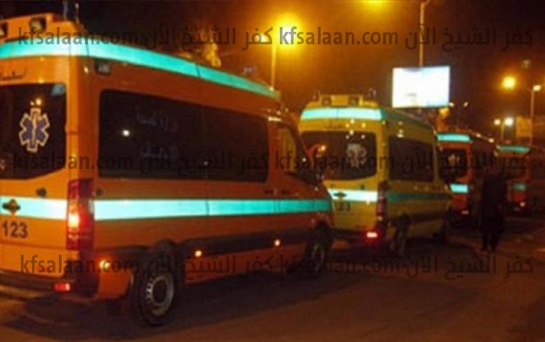 بالأسماء .. إصابة 5 أشخاص فى حادث تصادم ميكروباص وتوك توك بكفر الشيخ