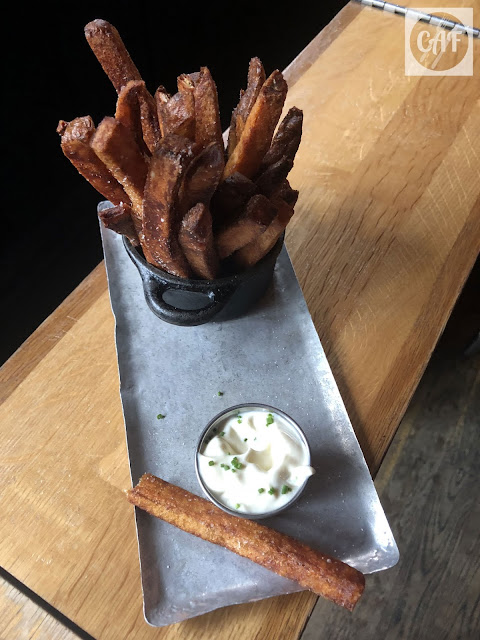 The french fries with housemade malt vinegar aioli at Drink, a bar in Fort Point, Boston, Massachusetts