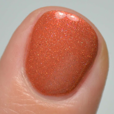 cinnamon red brown nail polish with shimmer swatch