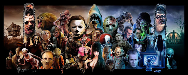 Wallpapers PC, Horror movie, collage horror