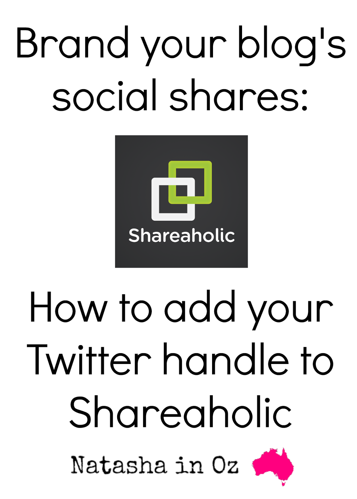 How to Add your own Twitter Handle to Shareaholic.