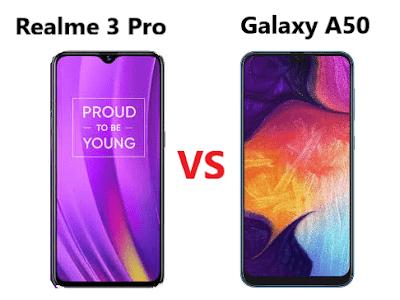Perbandingan Realme 3 Pro vs Samsung Galaxy A50