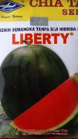 buah besar, daging merah, buah bulat, semangka non biji, semangka Liberty, Cap Kapal Terbang, Harga Murah