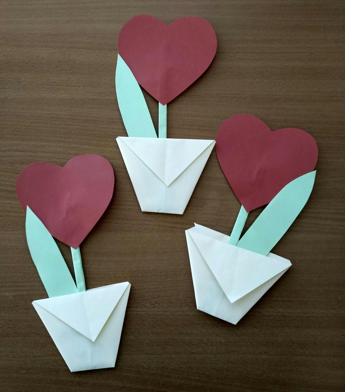 Смыслом, открытка сердечко своими руками из бумаги для мамы