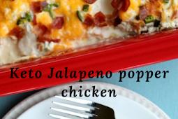 Keto Jalapeno popper chicken