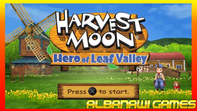 تحميل لعبة Harvest Moon – Hero of Leaf Valley لاجهزة psp ومحاكي ppssppمن الميديا فاير