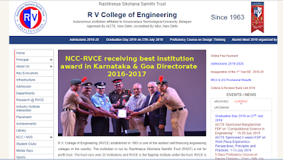 RV College of Engineering, Bangalore Results and Exam Time tables