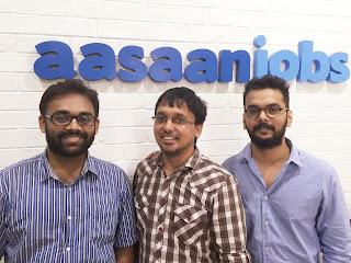 Founders of AasaanJobs (L-R) Gaurav Toshniwal,Dinesh Goel,Kunal Jadhav