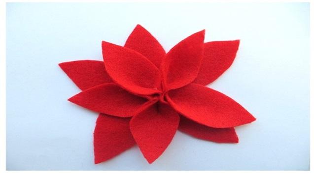 el yapımı keçe kumaş çiçek