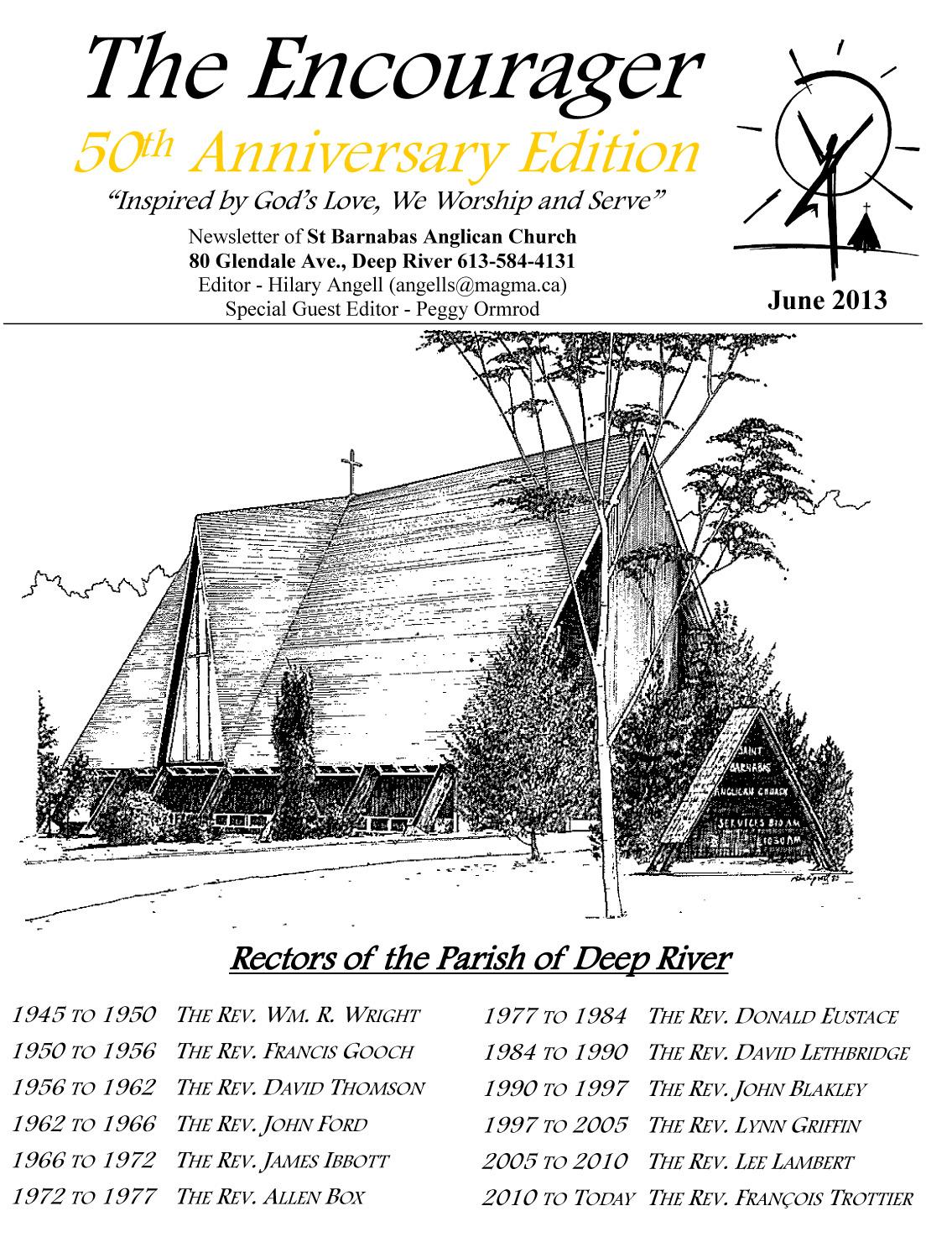 St. Barnabas Anglican Church: June 2013