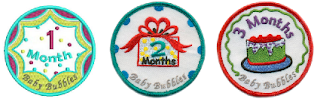 baby bubbles month patches