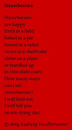 Chocolate Cake With Strawberries Poem