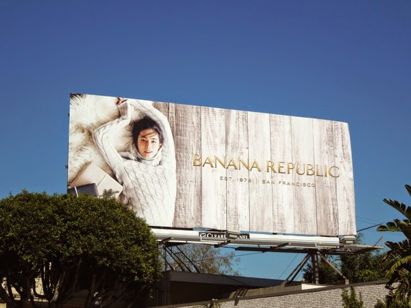 Banana Republic Holidays 2014 billboard