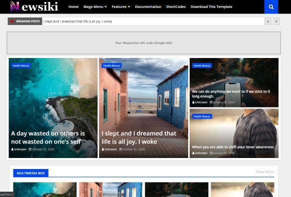 Blogger Template Newsiki