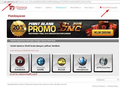 Cara Isi Cash PB Garena Indonesia
