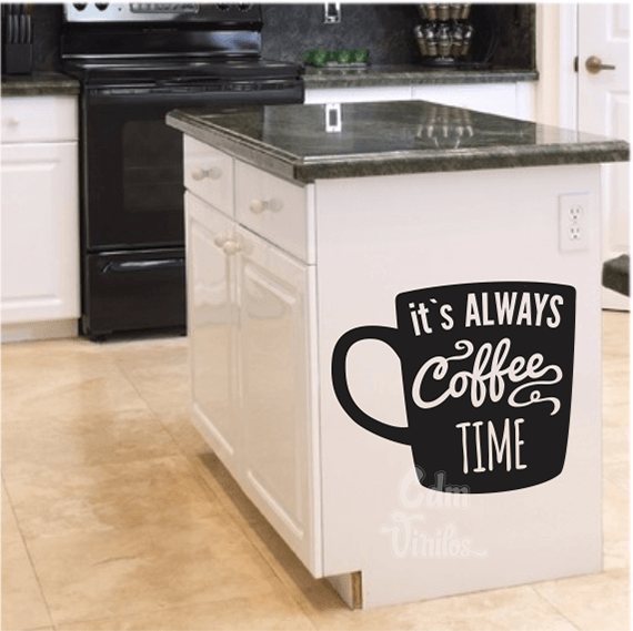 Vinilo decorativo pared cocina always coffee w21 cdm - Vinilo decorativo cocina ...
