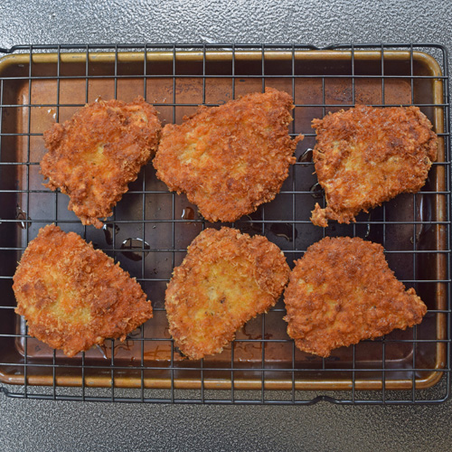 Use a wire rack for fried foods to keep them from getting soggy.