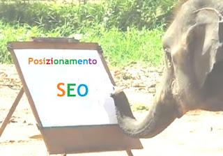 Posizionamento SEO elefante