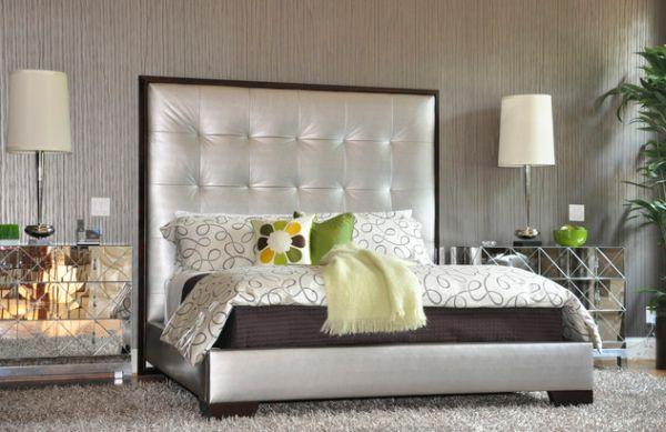 Dormitorios decorados en color plata ideas para decorar for Dormitorio wengue y plata