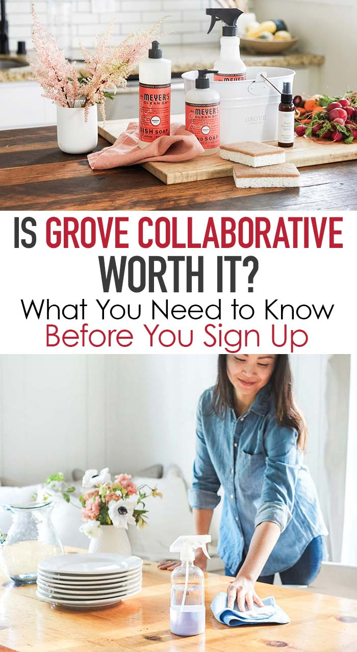 Is Grove Collaborative worth it? Let a real member give you the scoop what you'll love (and what you might not). #grovehome #grove #cleaning #cleanhome #natural #naturalhome