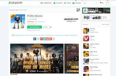 Download game PUBG Mobile di Apk Pure