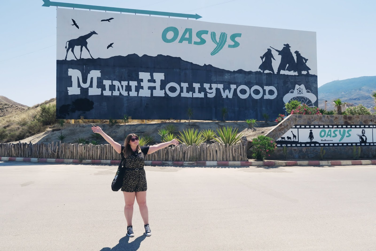 The entrance sign to Mini Hollywood