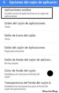 como ocultar iconos de las aplicaciones en mi celular