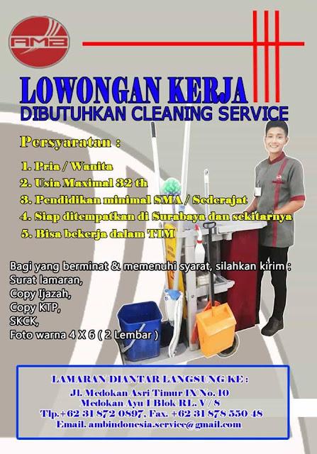 lowongan kerja cleaning service di surabaya