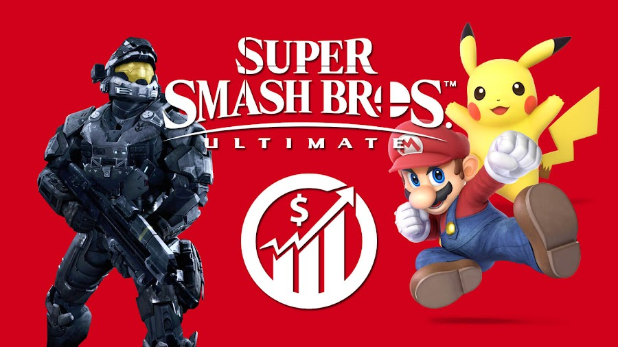 super smash bros ultimate sales record halo reach