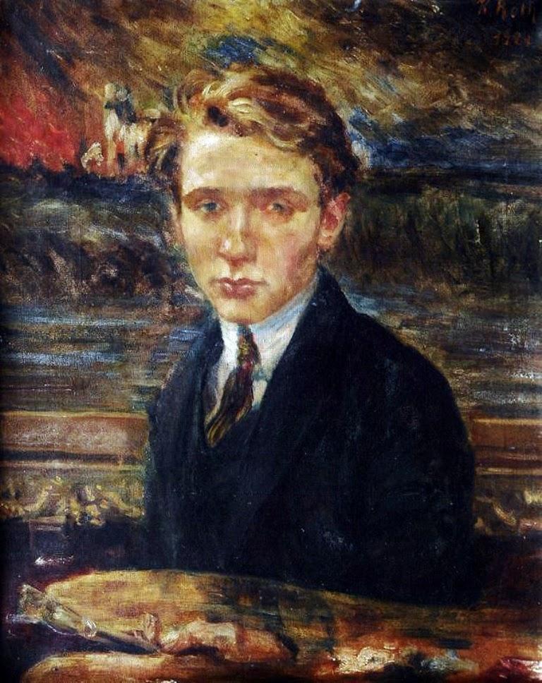 Karl Friedrich Roth, Self Portrait, Portraits of Painters, Fine arts, Friedrich Roth