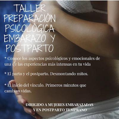 Taller preparación psicológica embarazo y postparto