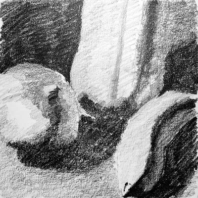 Daily Art 11-7-17 value and contrast - tonal composition studies