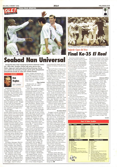 REAL MADRID COPA DEL REY 2002 NEWS