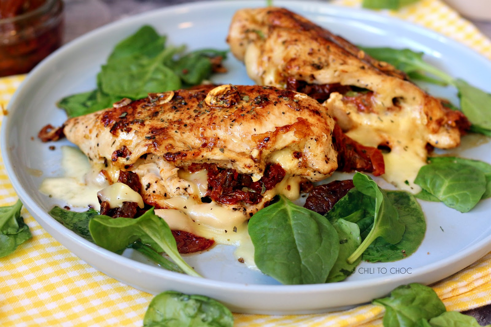 Stuffed Chicken with Sundried Tomatoes & Gouda