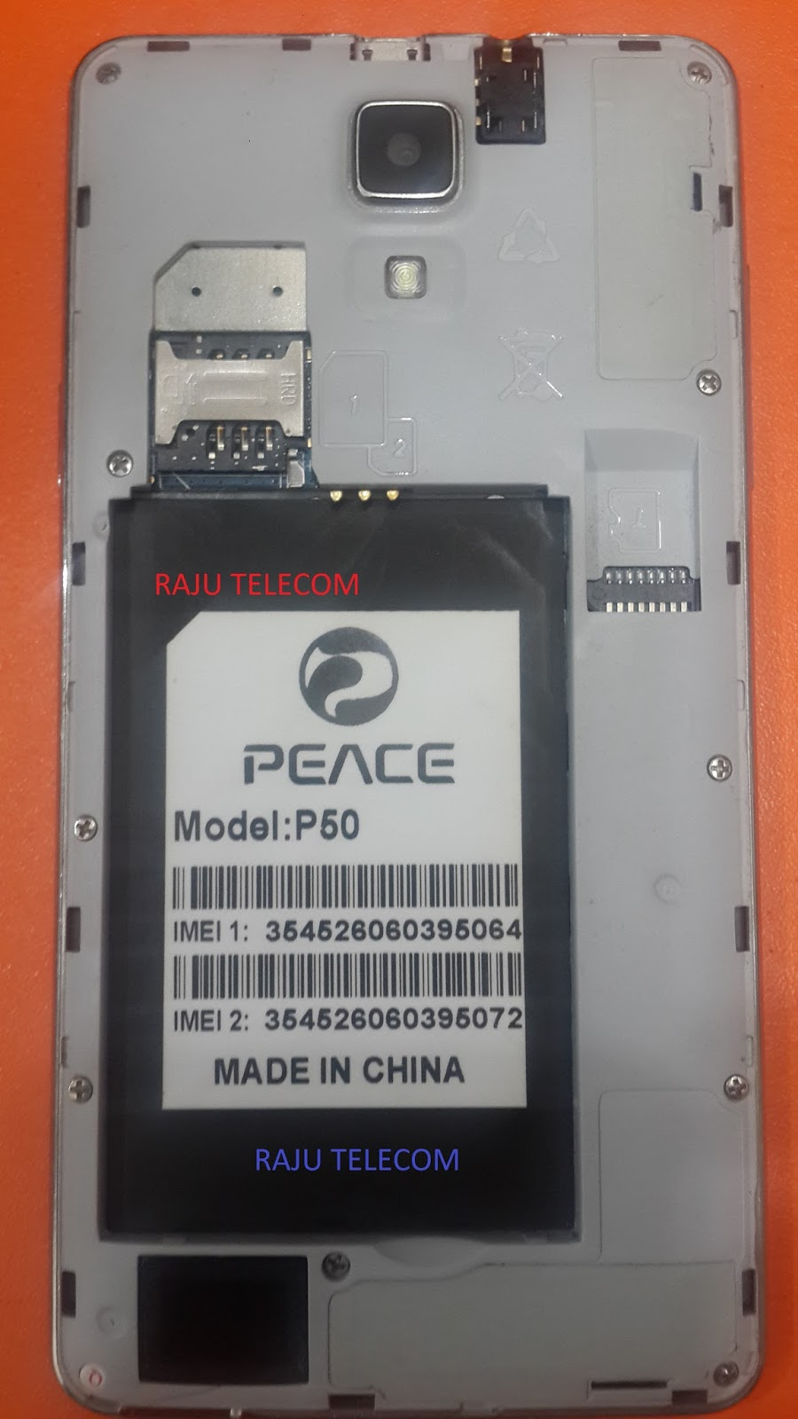 RAJU TELECOM* * *: Peace P50 MT6572 4 4 2 Firmware (flash file) 100