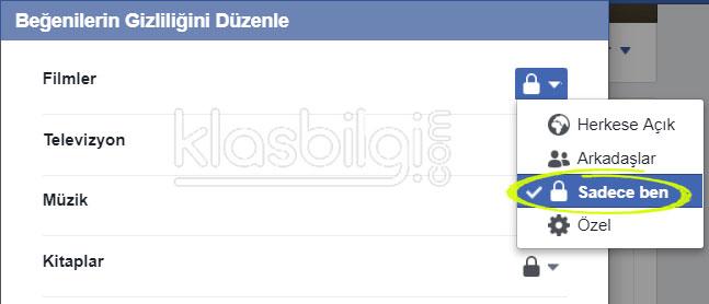 Facebook'ta beğendiğiniz sayfaları gizleyin