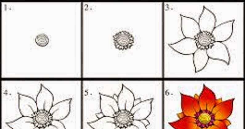 How To Draw A Rose In 6 Simple Steps Learn To Draw And Paint