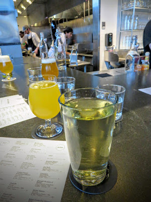 Craft beer and cider at Row 34 bar in Boston's Fort Point Neighborhood