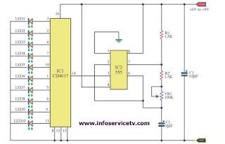 Rangkaian Elektronika Lampu LED