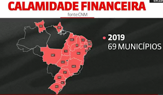 centenas de municípios estão à beira do colapso financeiro