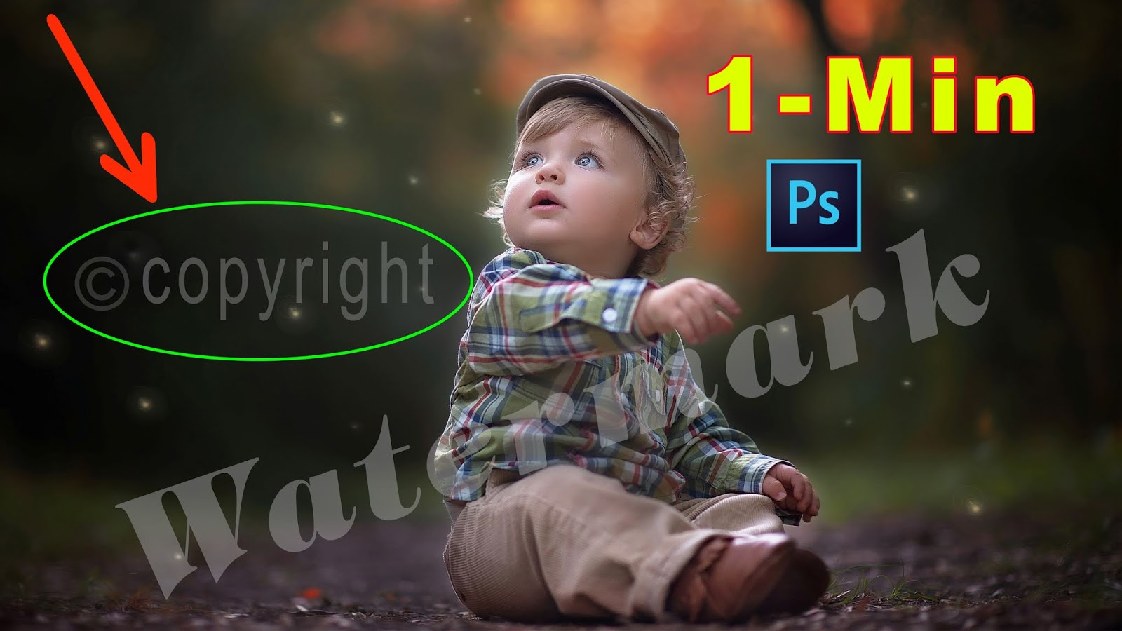 How to Quick WATERMARK REMOVE from Photo for Beginners into 1 Minute in Photoshop CC