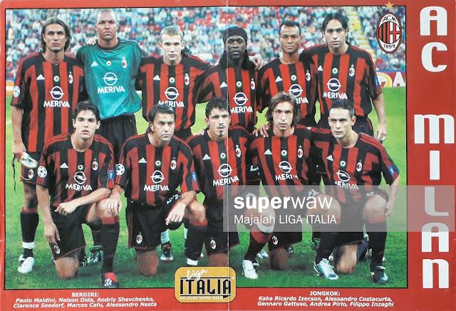 POSTER TEAM AC MILAN 2003