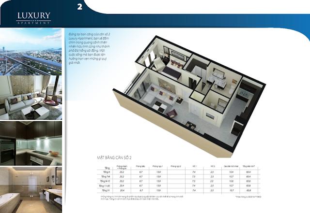 Chi tiết căn hộ số 02 dự án Luxury Apartment