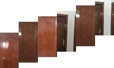 طريقة دهان الابواب الخشبية استر