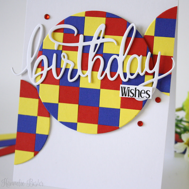 Circles and squares-primary colors-birthday card-hero arts