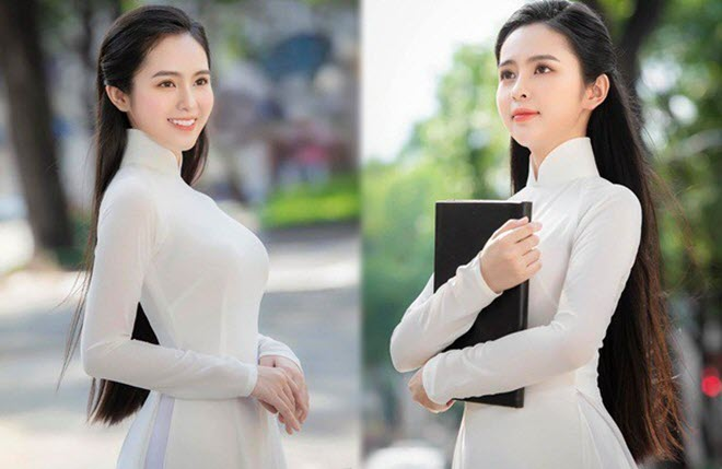 Nữ sinh có tên lạ Trịnh Thị Ái Phi đẹp tinh khôi với áo dài trắng