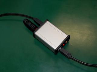 Interruptor de teste UTUSB2 em funcionamento.