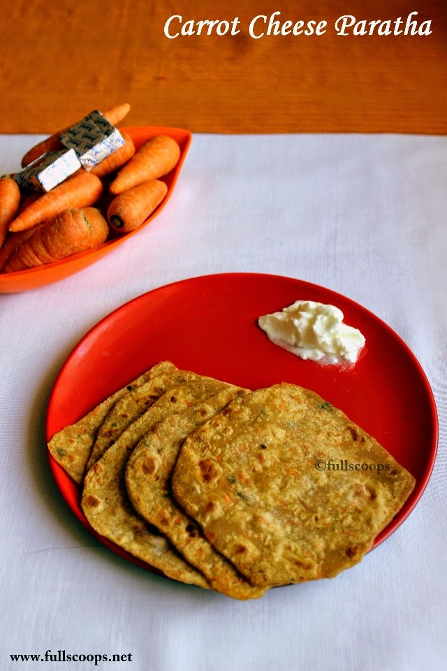 Carrot Cheese Paratha