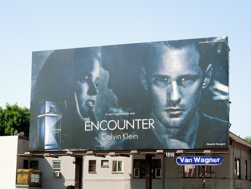 Alexander Skarsgard Calvin Klein Encounter billboard